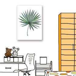 【24mama 掛畫】單聯式 北歐 簡約 花卉 植物 手繪風 葉子 花朵 ig風格 無框畫-40x60cm(熱帶植物系列)