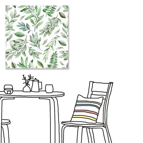 【24mama 掛畫】單聯式 北歐風 文青 ig風格 ins風 植物 葉子 手繪風 水彩風 樹葉 無框畫 30x30cm(淺草)