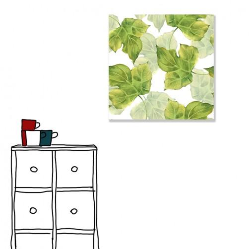 【24mama 掛畫】單聯式 北歐風 清新 ig風格 ins風 植物 葉子 手繪風 水彩風 樹葉 無框畫 30x30cm(蒲蓉)