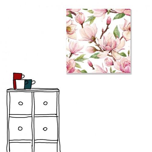 【24mama 掛畫】單聯式 北歐風 ig風格 ins風  花卉 花朵  手繪風 水彩風 粉色 粉紅色 無框畫 30x30cm(嫣然)