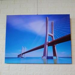 24mama掛畫 單聯式 客製化無框畫 尺寸圖像都可客製 無框畫 80x60cm-華士古達伽馬大橋