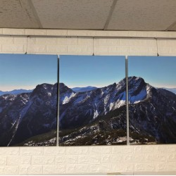 24mama掛畫 三聯式 客製化無框畫 尺寸圖像都可客製 無框畫 60x80cm-玉山國家公園