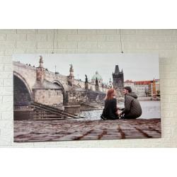 24mama掛畫 單聯式 客製化無框畫 尺寸圖像都可客製 無框畫 135x80m-熱戀中的年輕夫婦