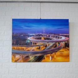 24mama掛畫 單聯式 客製化無框畫 尺寸圖像都可客製 無框畫 80x60cm-上海南浦大橋