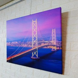 24mama掛畫 單聯式 客製化無框畫 尺寸圖像都可客製 無框畫 80x60cm-明石海峽大橋