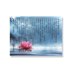24mama掛畫 單聯式 寧靜 靈性 禪 植物花卉 佛教 水 睡蓮 和平放鬆 無框畫 40x30cm-般若波羅密多心經