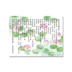 24mama掛畫 單聯式 美麗植物花卉 蓮花 花苞 開花 藝術繪畫 荷葉 東方 池塘 浪漫 無框畫 40x30cm-般若波羅密多心經
