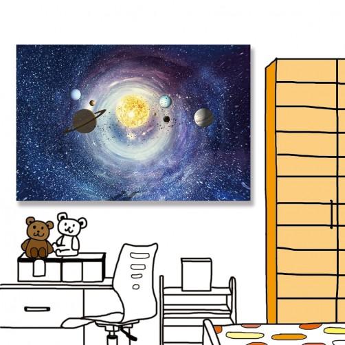 24mama 單聯式 星雲 宇宙 星星 無框畫 60x40cm-太空行星