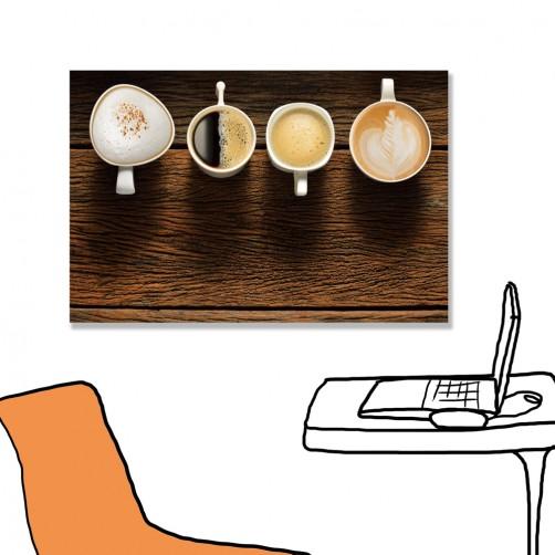 24mama掛畫 單聯式 咖啡 奶泡 拿鐵 無框畫 60x40cm-咖啡