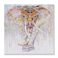 24mama掛畫 單聯式 動物 豐富多彩 花卉 藝術繪畫 無框畫 30x30cm-宗教大象