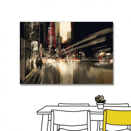 24mama 單聯式 城市 藝術 街道 無框畫 60x40cm-城市街道