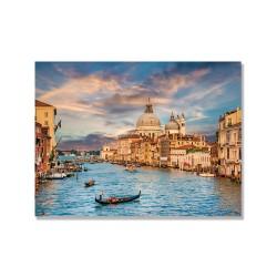 24mama掛畫 單聯式 威尼斯 教堂 義大利 日落 無框畫 40x30cm-瑪麗亞·德拉·禮炮