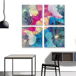 24mama掛畫 多聯式 多彩 幾何 藝術插圖 明亮 繪畫 創造力 無框畫 30x30cm-多彩抽象01