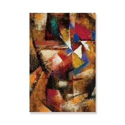 24mama掛畫 單聯式 抽象繪畫 明亮紋理 斑點 現代藝術 無框畫 40x60cm-多彩多姿畫