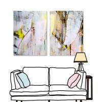 24mama 二聯式  藝術 抽象 無框畫 30x40cm-彩色油畫02