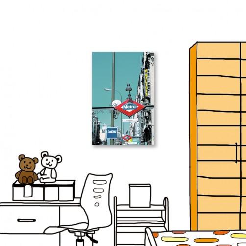 24mama掛畫 單聯式 攝影 城市街景 無框畫 40X60cm-標示