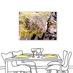 24mama掛畫  單聯式 藝術抽象 油畫風無框畫 30X40cm-金黃大地