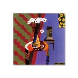 24mama掛畫  單聯式 藝術抽象 花卉 油畫風無框畫 30X30cm-藝術家的客廳