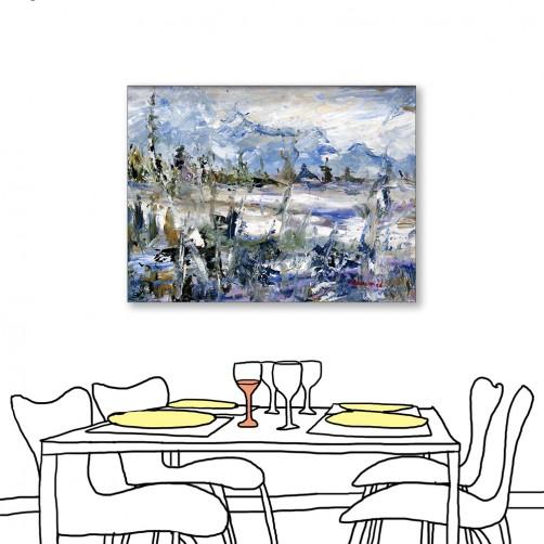 24mama掛畫 單聯式 藝術抽象 油畫風無框畫 30X40cm-北歐色彩