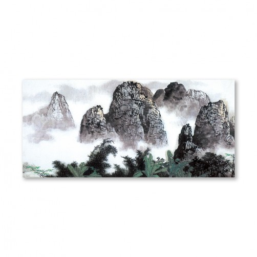 24mama掛畫 單聯式 山水風景 手繪風 無框畫 23x50cm-暢遊