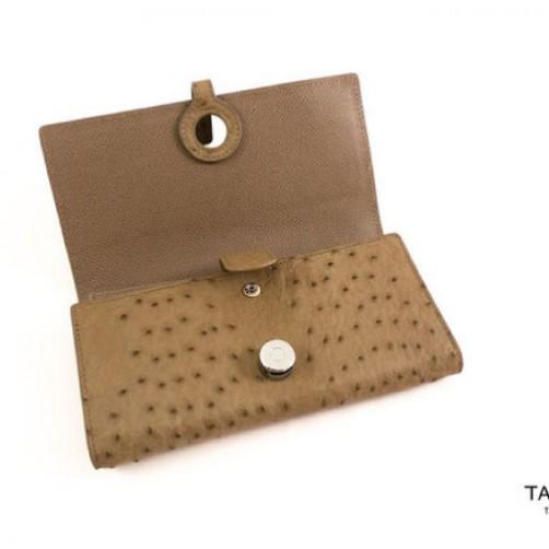 女用 長夾 真皮 鴕鳥皮 手工皮件 訂製款 客製包 信用卡夾 名片夾 免費燙印