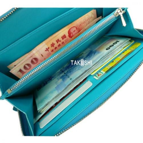 女用 手拿包 長夾 信用卡夾 鈔票夾 拉鏈式 手工皮件 客製 訂製