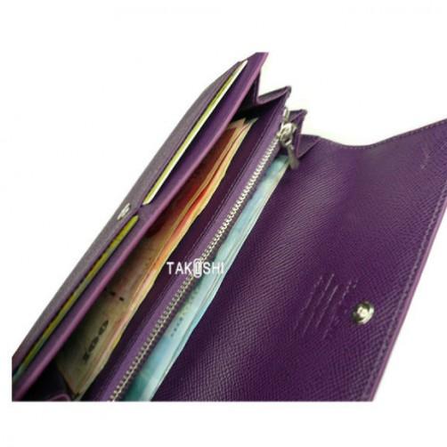 女用 長夾 皮夾 拉鍊式 手工皮件 小牛皮 真皮 客製化 信用卡夾 鈔票夾 英文燙印