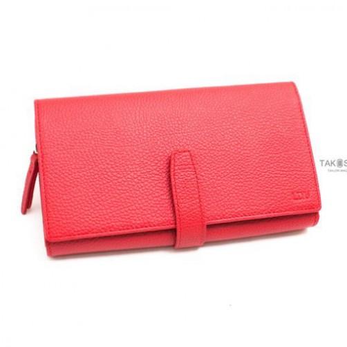女用長夾 經典款 客製皮件 手工製作 鈔票夾 信用卡夾 小牛皮 免費燙印
