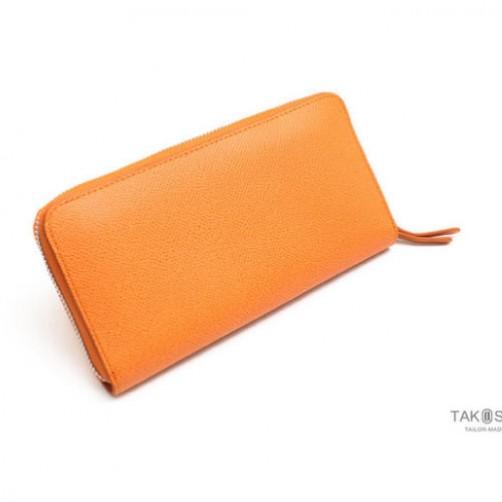 真皮拉鍊長夾 熱銷 女用皮件 信用卡夾 鈔票夾 名片夾 拉鍊零錢包 免費燙印 客製化