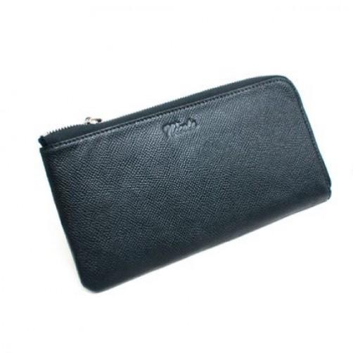 女用 長夾 皮夾 L型 拉鍊式 手工皮件 小牛皮 真皮 客製化 信用卡夾 鈔票夾 英文燙印
