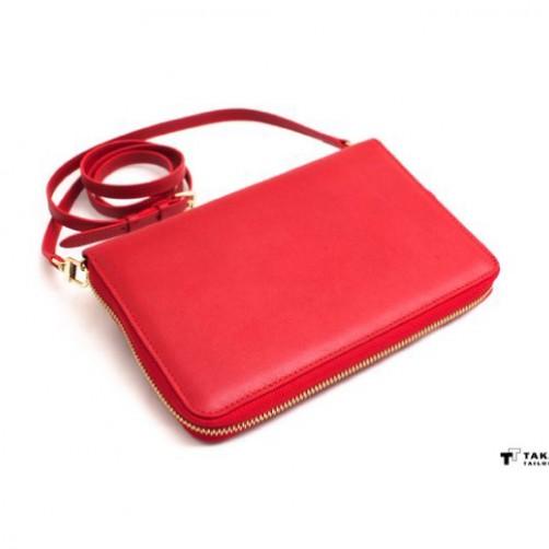女用長夾 斜背 可調式肩帶 手拿包 肩背 信用卡夾 名片夾