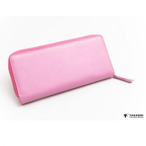 女用 拉鍊長夾 手工客製皮件 訂製 小牛真皮 免費燙印 信用卡夾 鈔票夾 手拿包