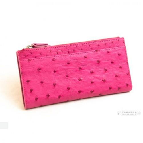 女用 長夾 鴕鳥皮 訂製款 鈔票夾 信用卡夾 手工皮件 精品手拿包 真皮