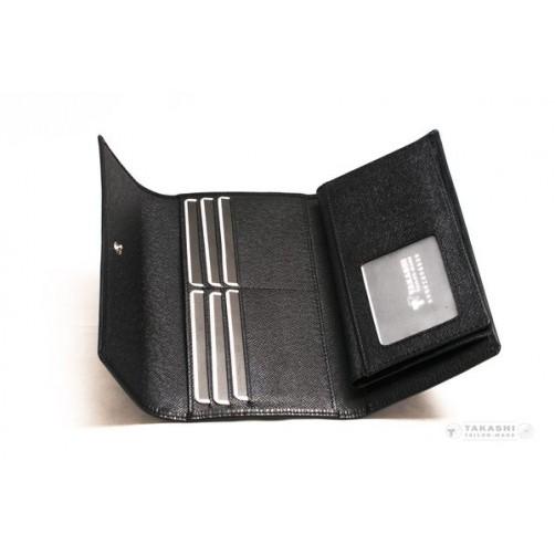 女用 兩折式 長夾 客製皮件 牛皮 手工製作 燙印 信用卡夾 鈔票夾