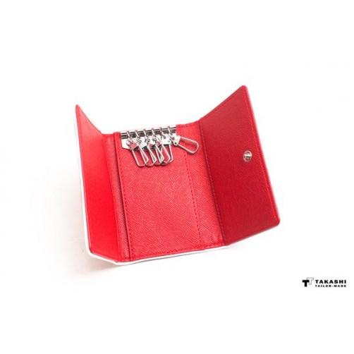 手工皮件6匙 三摺 鑰匙包 客製化 免費燙印