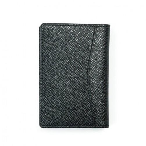 十字紋真皮皮夾 耐刮 卡片夾 名片夾 證件夾