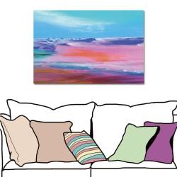 【123點點貼】24mama  抽象風格壁貼 無痕壁貼 單聯式 橫幅-粉紅世界-60x40cm