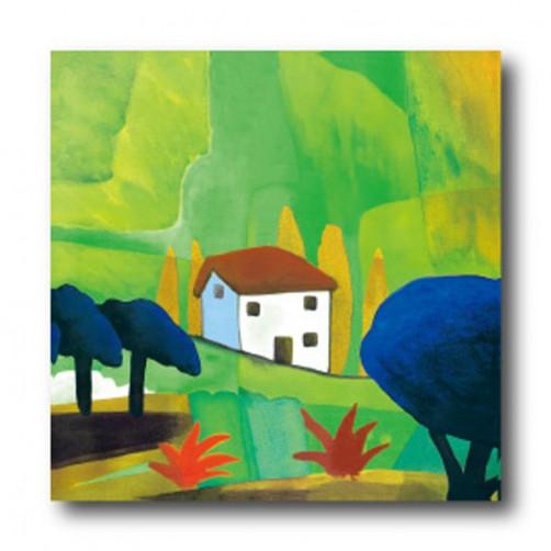 單聯式 方形 小孩房裝飾 無框畫 親子民宿裝潢 幼稚園佈置 家飾品 圖書館 抽象-糖果屋-30x30cm