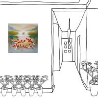 24mama掛畫 單聯式 無框畫 招財進寶 吉祥如意 風水 鯉魚 錦鯉 辦公室 無框畫 九魚圖  荷花 蓮花 30x30cm