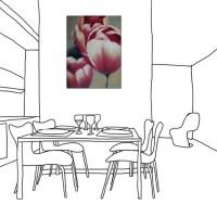 24mama掛畫 單聯式 油畫 掛畫 無框畫 花卉 花朵  藝術裝飾 30X40cm 馥郁