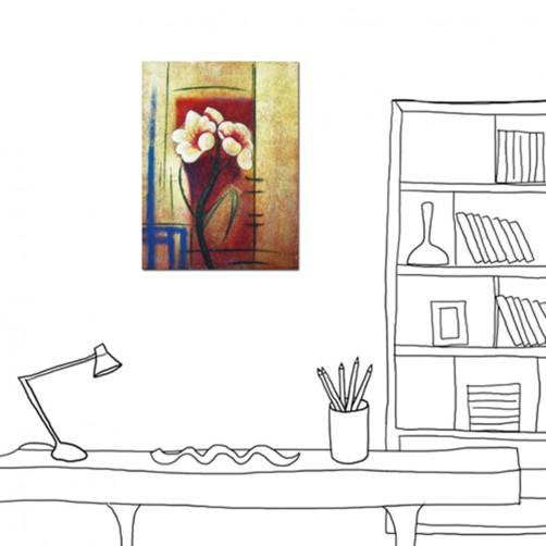 24mama掛畫 單聯式 花朵 花卉 油畫風 藝術  無框畫 30X40cm 花見