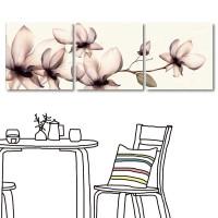 【123點點貼】 時尚感壁貼 花卉壁貼 家居裝飾 三聯式 30x30cm-心花