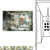 單聯式農村風時尚無框掛畫 復古裝潢40x60cm-農家女圖(farmgirl)