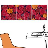 花卉掛畫 美容工作室裝潢 三聯式 30x30cm-時尚美