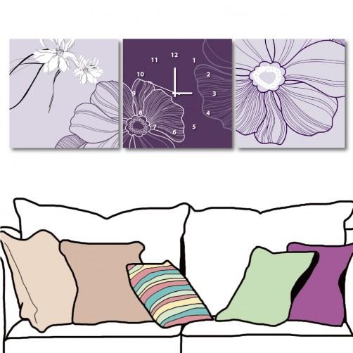 24mama  無框掛畫 藝術掛畫 三聯式 方形30x30cm-魔女的花