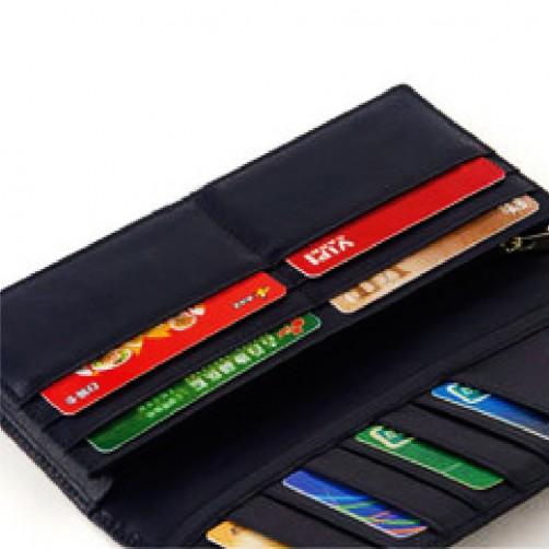 兩折式 女用長夾 鈔票夾 信用卡夾 手工皮件 免費燙印