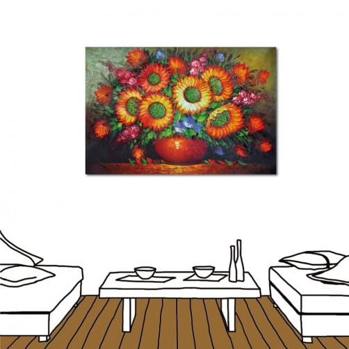 【123點點貼】24mama  無框畫壁貼 無痕壁貼 單聯式 橫幅-花開-60x40cm