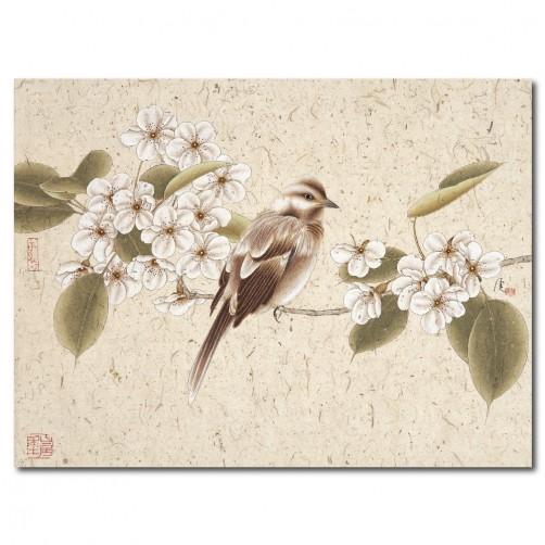 24mama 生氣-單聯式/橫幅/鳥/掛畫/油畫布/家飾品40x30cm