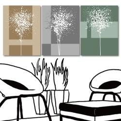 【123點點貼】 壁貼 無框畫壁貼 家具飾品 三聯式 30x40cm-寧靜