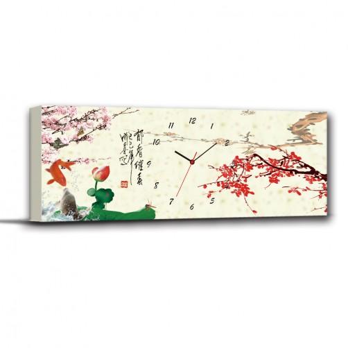 24mama 郁香催意-單聯式/橫幅/古色古香/掛鐘/掛畫/家飾品/長輩禮/民宿80x30cm